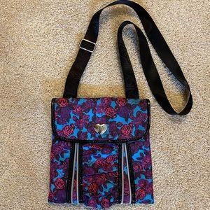 Betsey Johnson Rose print crossbody purse